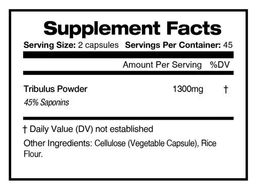 Ready to Go - Supplement facts panel